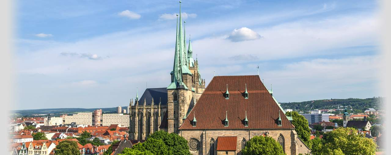 Panorama mit Erfurter Dom | © iStock